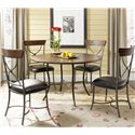 Hillsdale Cameron X-Back Dining Side Chair - Shown with Round Dining Table