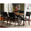Morris Home Furnishings Cameron Parson Dining Side Chair - Shown with Rectangular Dining Table
