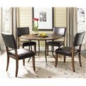 Morris Home Furnishings Cameron Parson Dining Side Chair - Shown with Round Dining Table