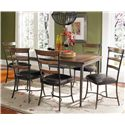 Hillsdale Cameron Ladder Back Dining Side Chair - Shown with Rectangular Dining Table