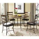 Hillsdale Cameron Ladder Back Dining Side Chair - Shown with Round Dining Table
