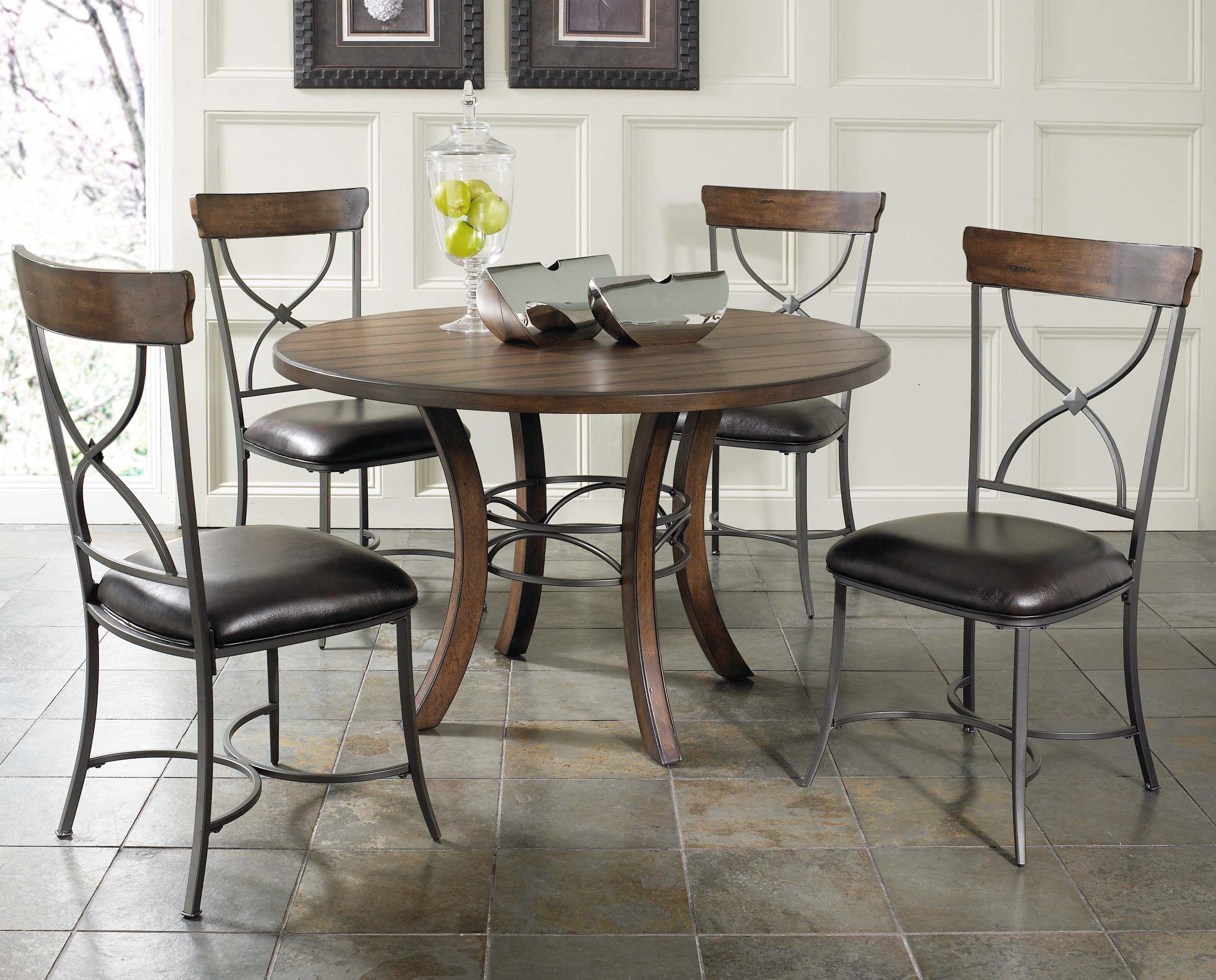 Hilale Cameron 5 Piece Metal Ring Dining Set With X Back Chairs