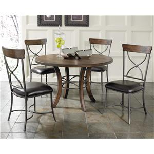 Morris Home Furnishings Cameron 5 Piece Metal Ring Dining Set