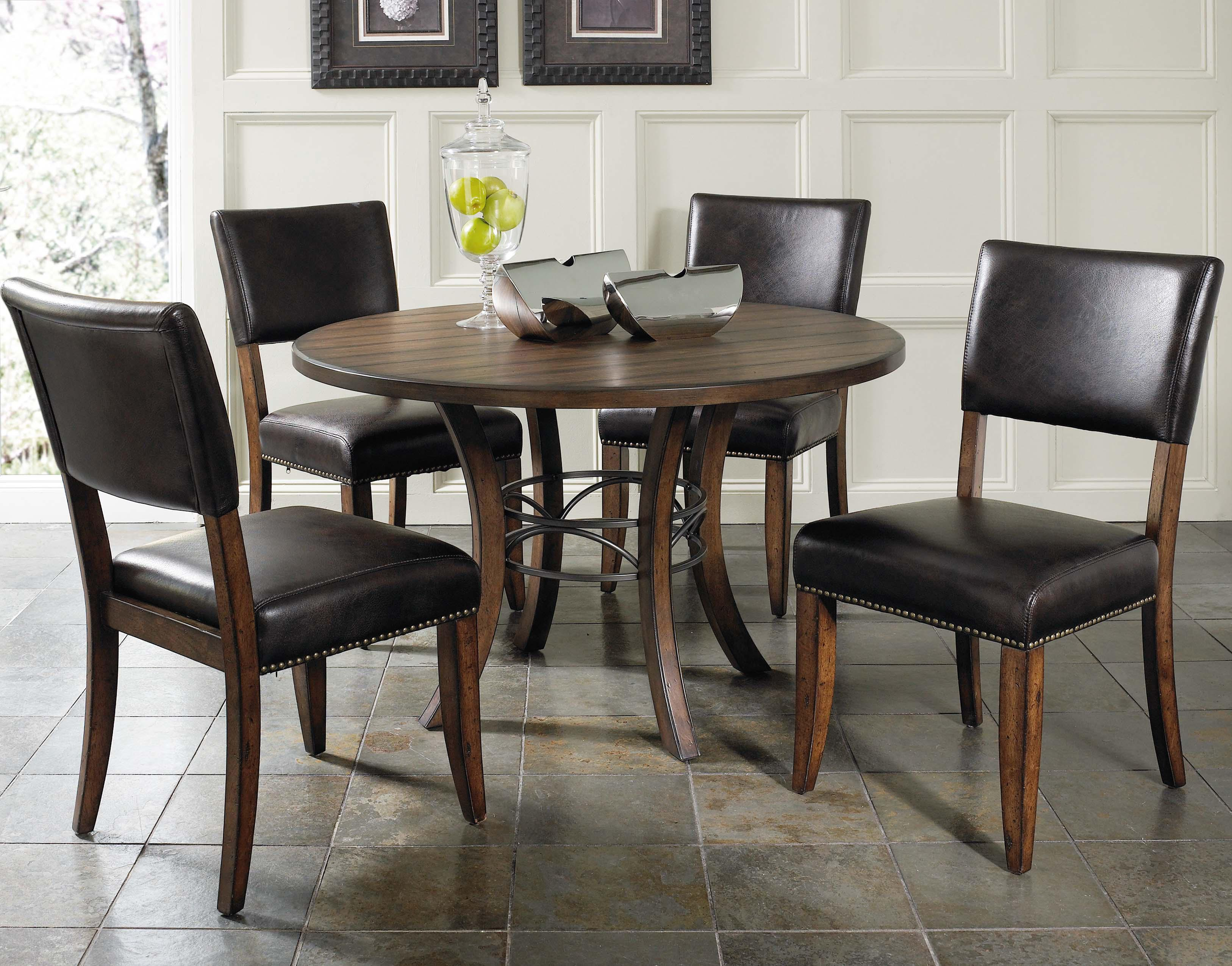 Hillsdale Cameron 5 Piece Metal Ring Dining Set - Item Number: 4671-814+815+4x804