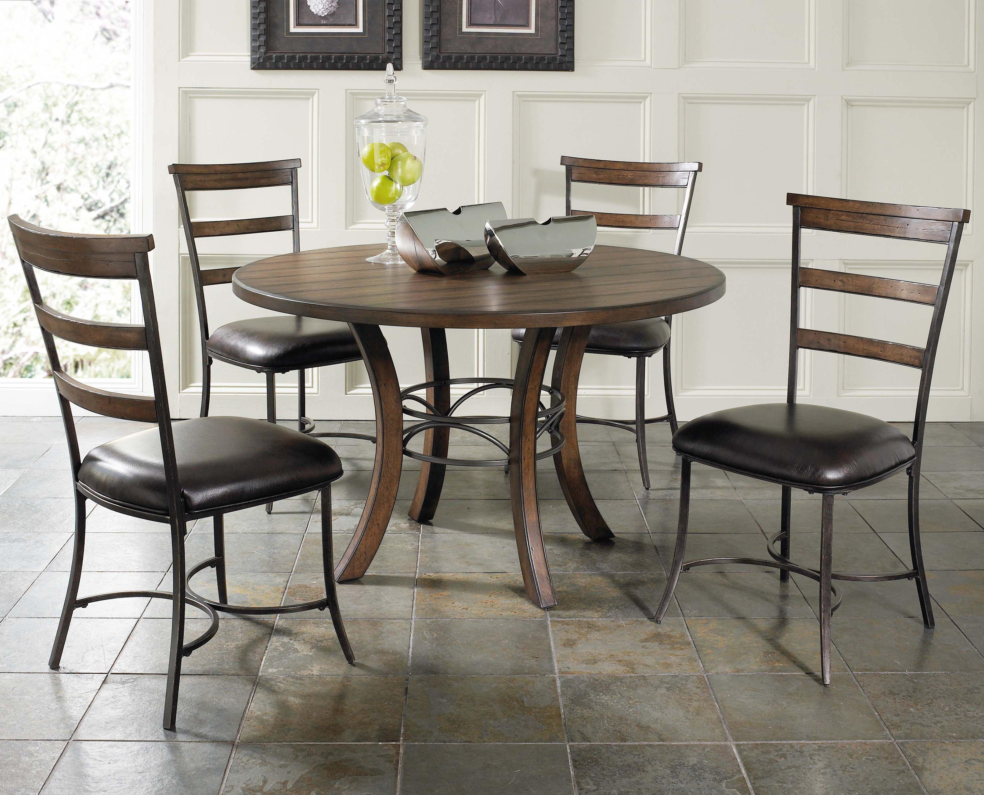Hillsdale Cameron 5 Piece Metal Ring Dining Set - Item Number: 4671-814+815+4x805