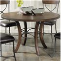 Hillsdale Cameron Round Dining Table - Item Number: 4671-814+815