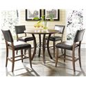 Hillsdale Cameron Round Wood Counter Height Table - Shown with Parson Stools