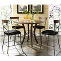 Hillsdale Cameron Round Wood Counter Height Table - Shown with X-Back Stools