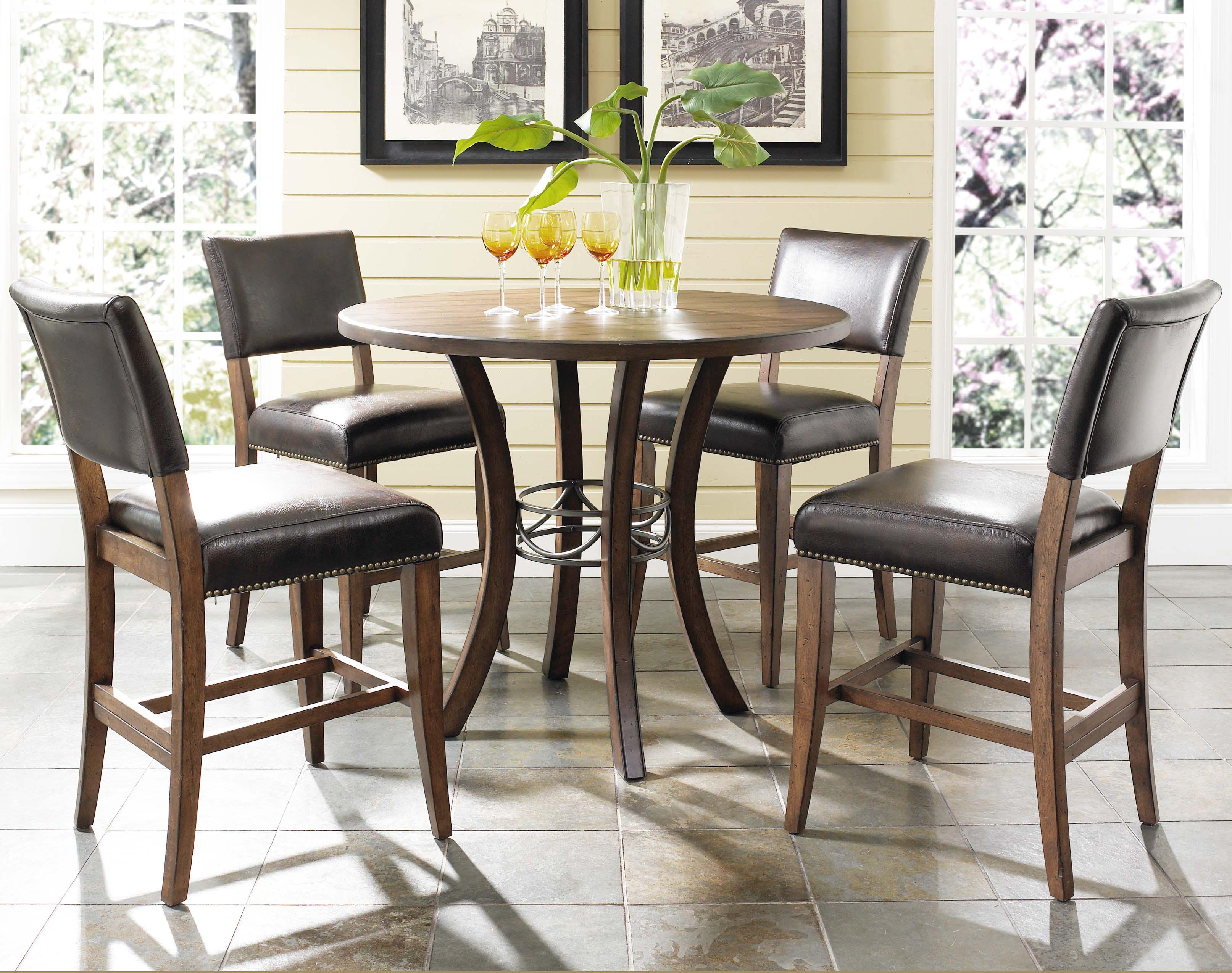 Hillsdale Cameron 5 Piece Round Counter Height Table Set - Item Number: 4671CTBWS4