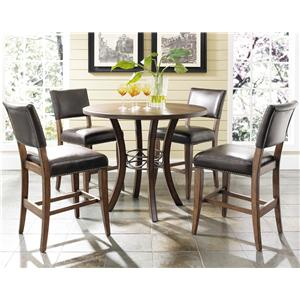 Morris Home Furnishings Cameron 5 Piece Round Counter Height Table Set