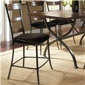 Hillsdale Cameron 5 Piece Round Counter Height Table & Ladder Back Stools Set