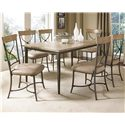Hillsdale Charleston X-Back Side Dining Chair - 4670-802 - Shown with Rectangular Table