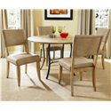 Hillsdale Charleston Parson's Dining Side Chair - 4670-804 - Shown with Round Metal Base Table