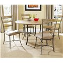 Hillsdale Charleston Ladder Back Dining Chair - Shown with Round Metal Base Table