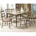 Hillsdale Charleston Ladder Back Dining Chair - Shown with Rectangular Table