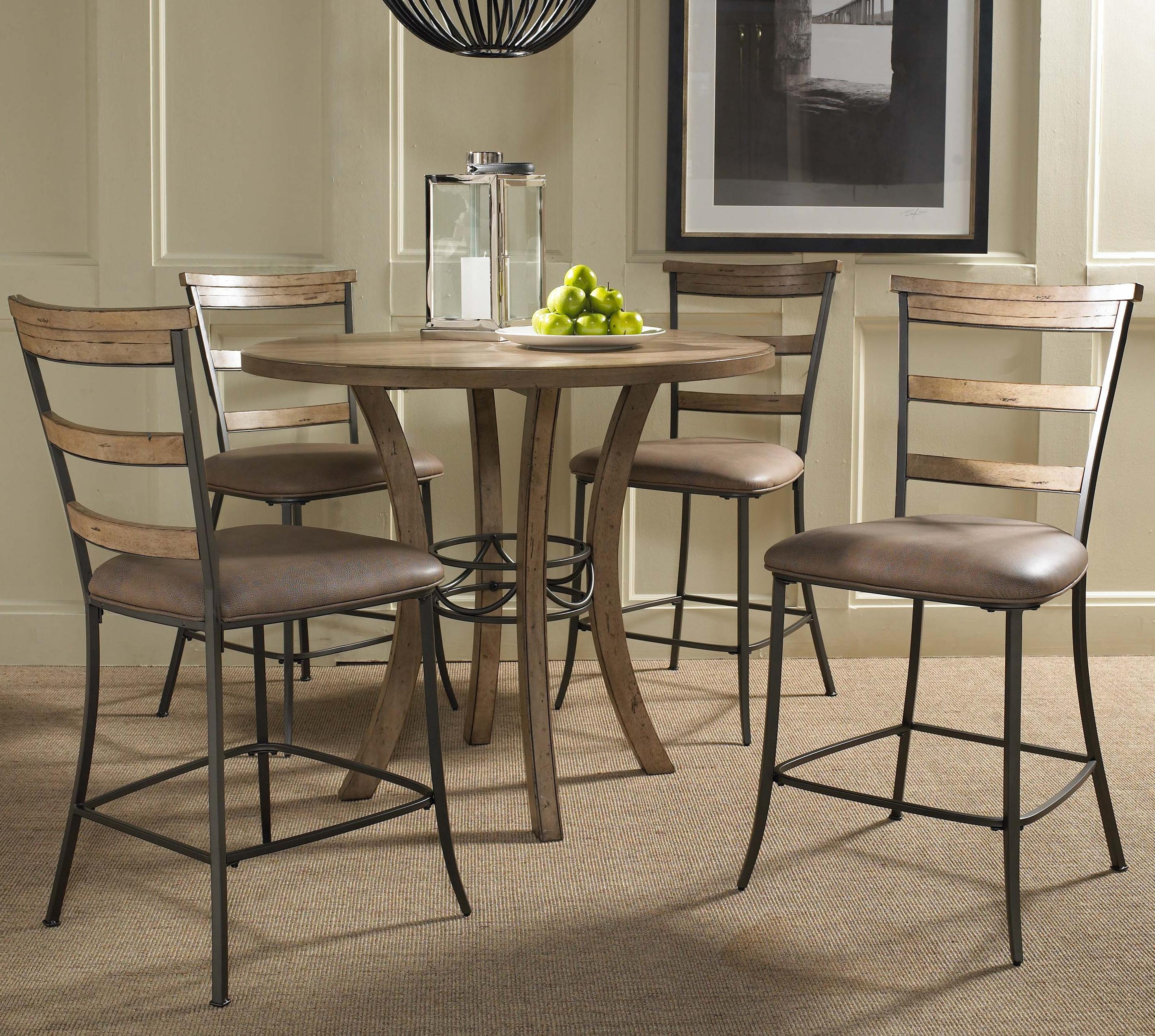 Hillsdale Charleston 5 Piece Pub Set   Item Number: 4670CTB+2x825