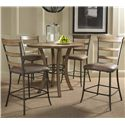 Hillsdale Charleston Round Counter Height Table w/ Wood - Shown with Ladder Back Stool