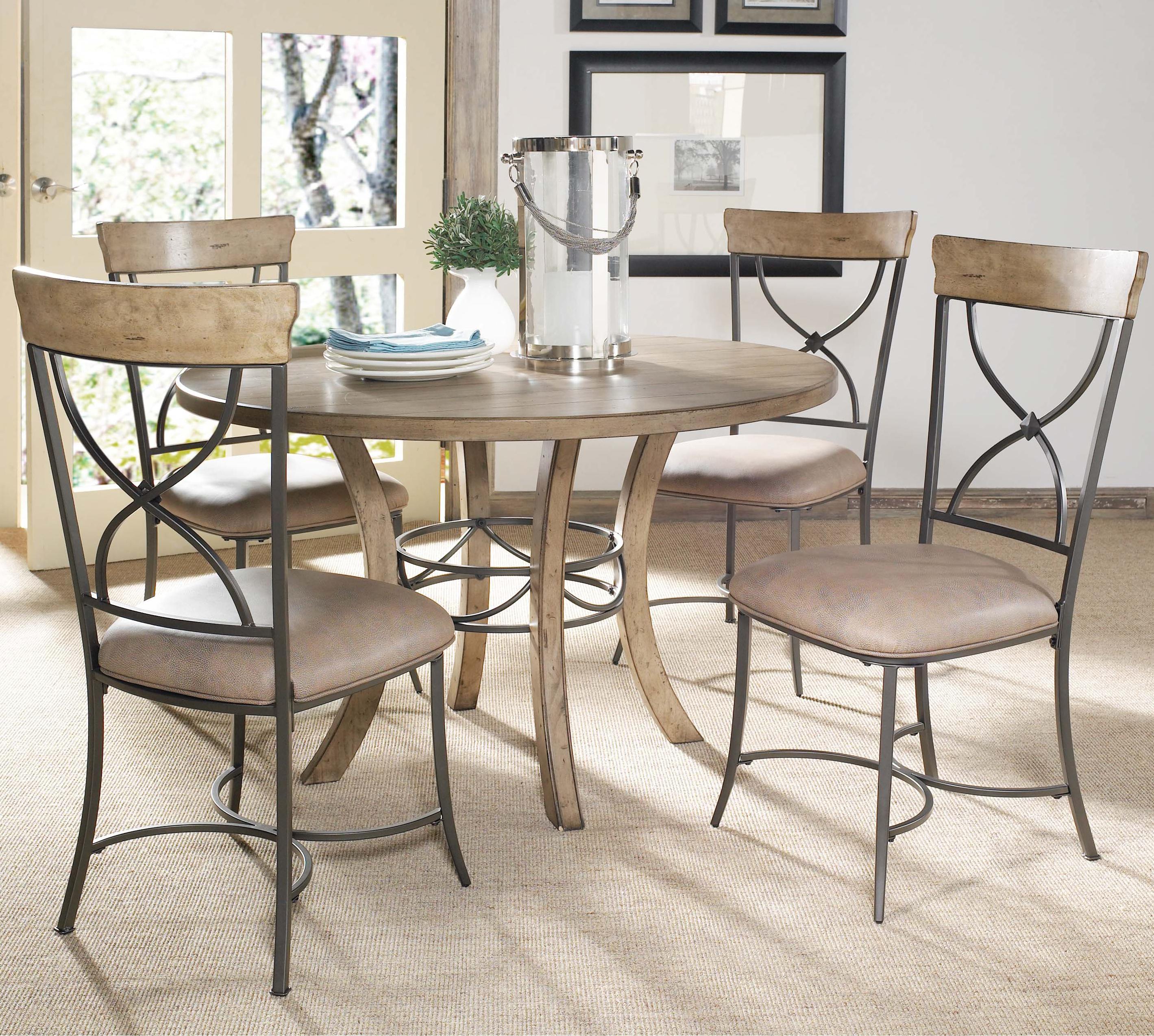 Hillsdale Charleston 5 Piece Dining Set - Item Number: 4670DTBW+2x802