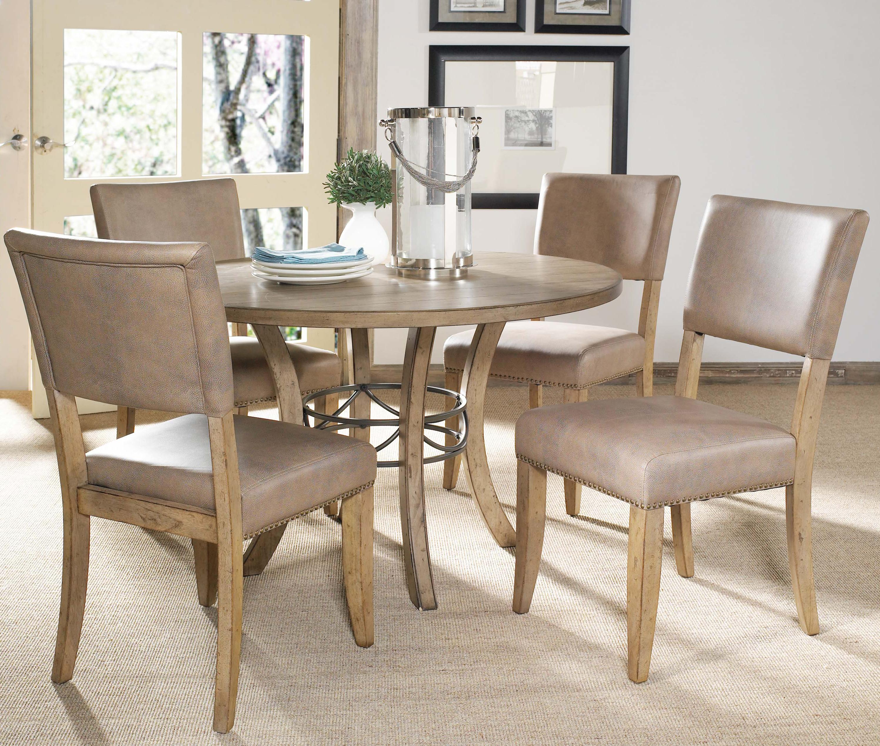 Hillsdale Charleston 5 Piece Dining Set - Item Number: 4670DTBW+2x804