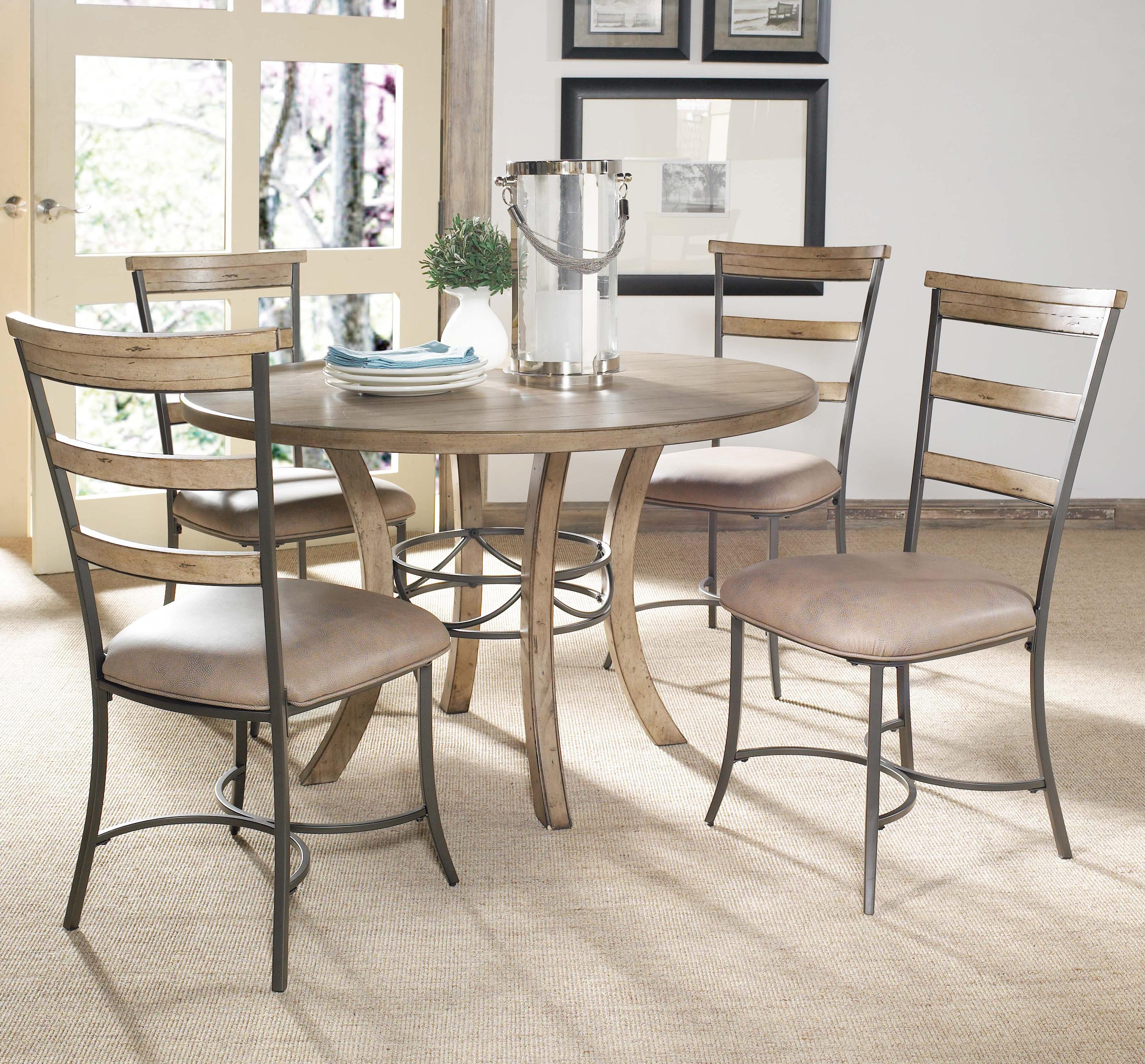 Hillsdale Charleston 5 Piece Dining Set - Item Number: 4670DTBW+2x805