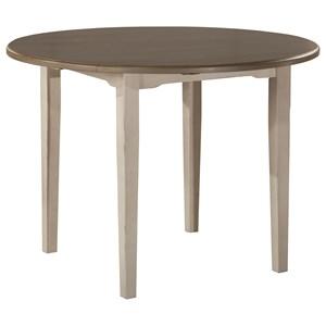 Round Drop Leaf Dining Table w/ Straight Leg