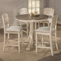 Hillsdale Clarion 5-Piece Counter Height Dining Set - Item Number: 4542-835+836