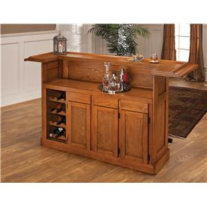 Morris Home Furnishings Classic Oak 625 Large Oak Bar