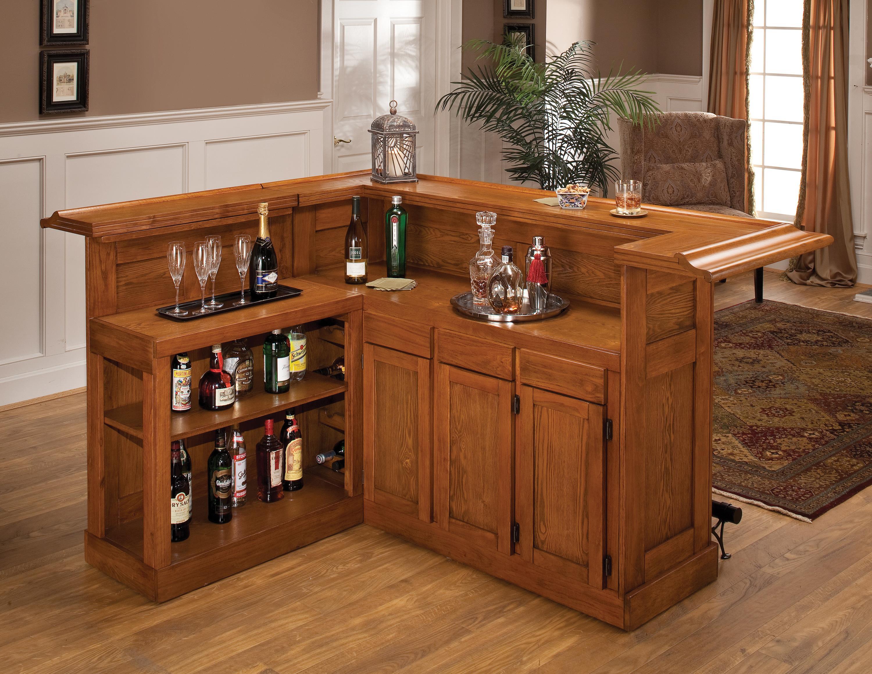 Hillsdale Classic Oak 625 Large Oak Bar with Side Bar - Item Number: 62576AXOAK