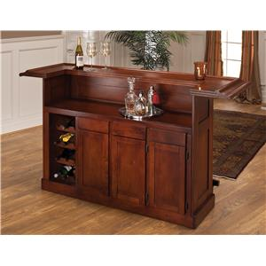 Morris Home Furnishings Classic Oak 625 Large Cherry Bar