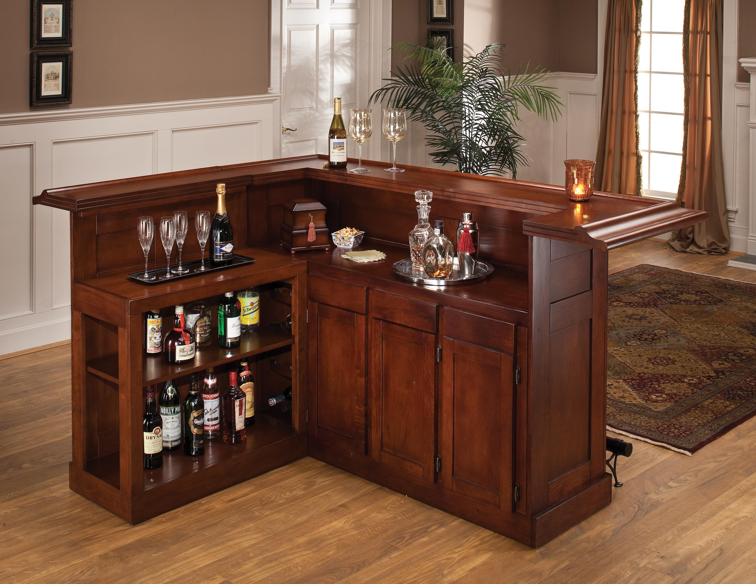 Hillsdale Classic Oak 625 Large Cherry Bar with Side Bar - Item Number: 62578AXCHE