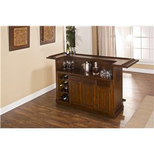 Morris Home Furnishings Classic Oak 625 Large Brown Cherry Bar