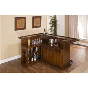 Large Brown Cherry Bar with Side Bar