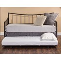 Hillsdale Daybeds Edgewood Daybed with Suspension Deck and Roll Out Trundle Unit