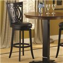 Hillsdale Dynamic Designs Bar Height Bistro Table and Swivel Chairs