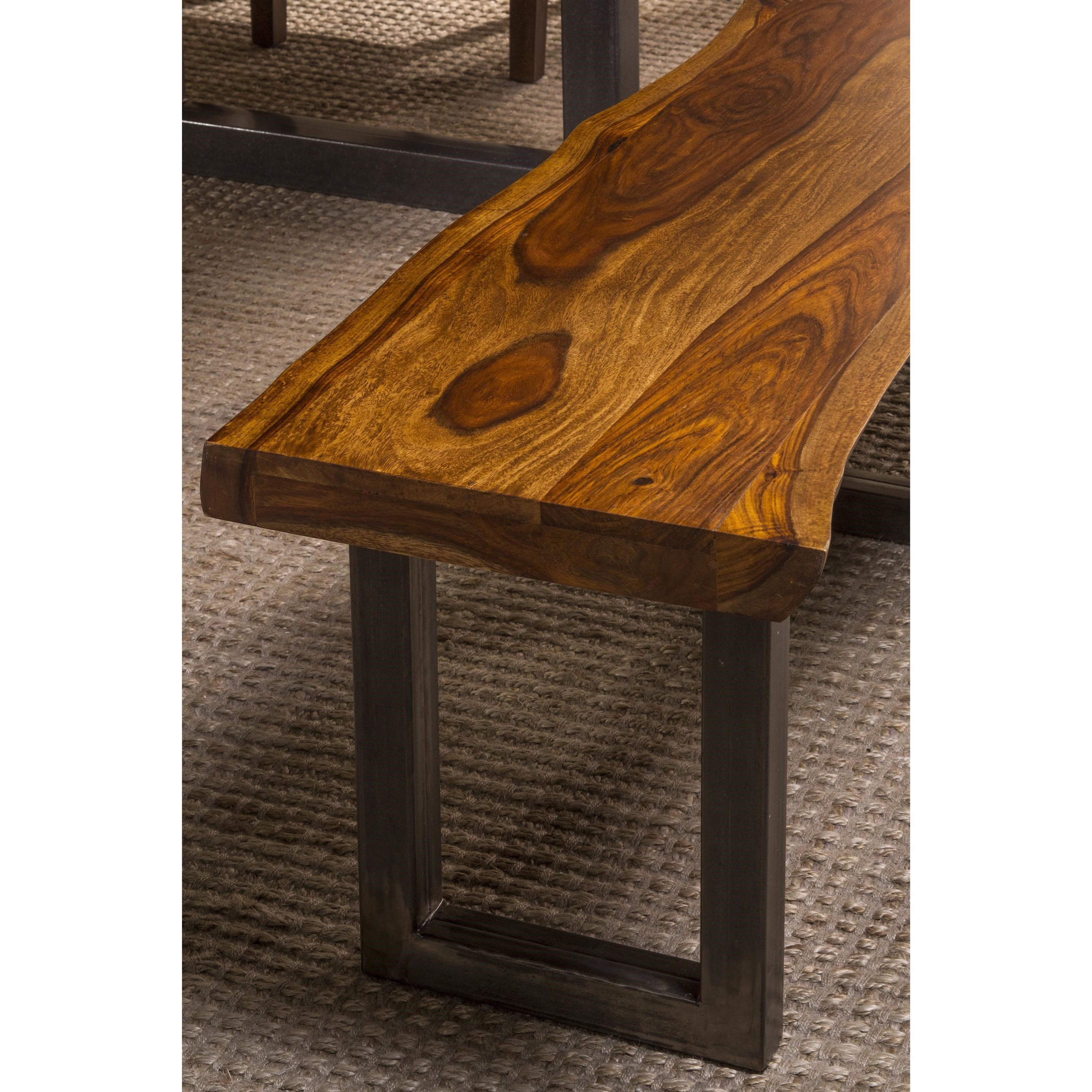 Hillsdale Emerson Natural Sheesham Bench With Live Edge