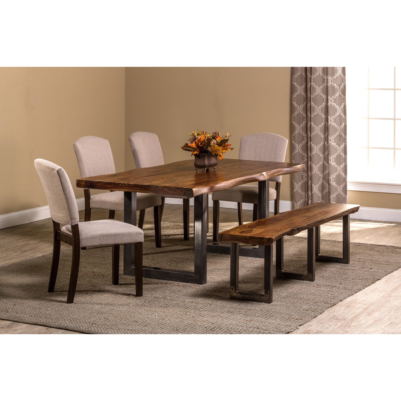 Emory Natural Sheesham Wood Rectangular Dining Table Ruby Gordon Furniture Mattresses