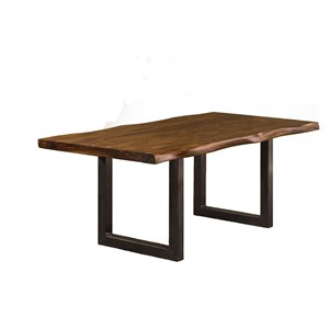 Morris Home Furnishings Emerson  Natural Sheesham Wood Dining Table