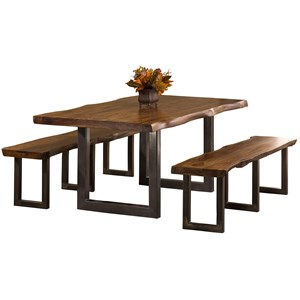 Morris Home Furnishings Emerson  3-Piece Rectangle Dining Set