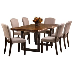 Morris Home Furnishings Emerson  7-Piece Rectangle Dining Set