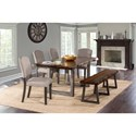 Hillsdale Emerson 6-Piece Rectangle Dining Set - Item Number: 5925DTBHC