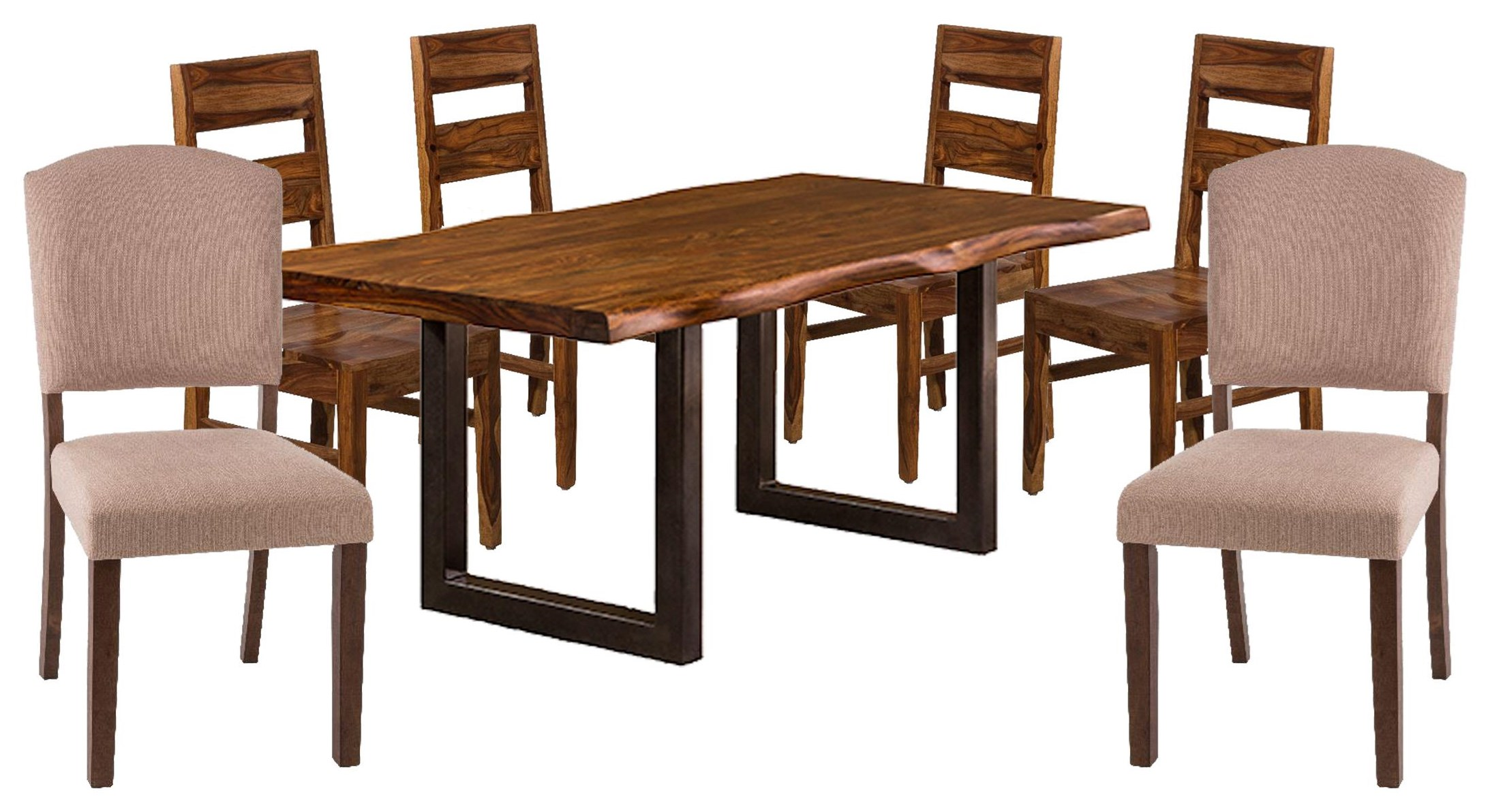 Emerson  Table, 4 Chairs, 2 Upholstered Chair by Hillsdale at Johnny Janosik