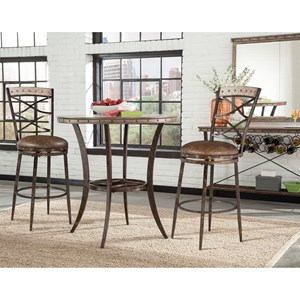 Hillsdale Emmons 3-Piece Bar Height Bistro Dining Set