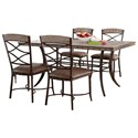 Hillsdale Emmons 5-Piece Rectangle Dining Set - Item Number: 5984DTBC