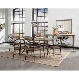 Hillsdale Emmons 7-Piece Rectangle Dining Set