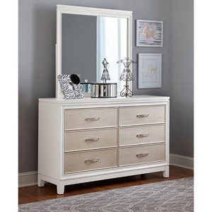 6 Drawer Dresser Mirror Combo