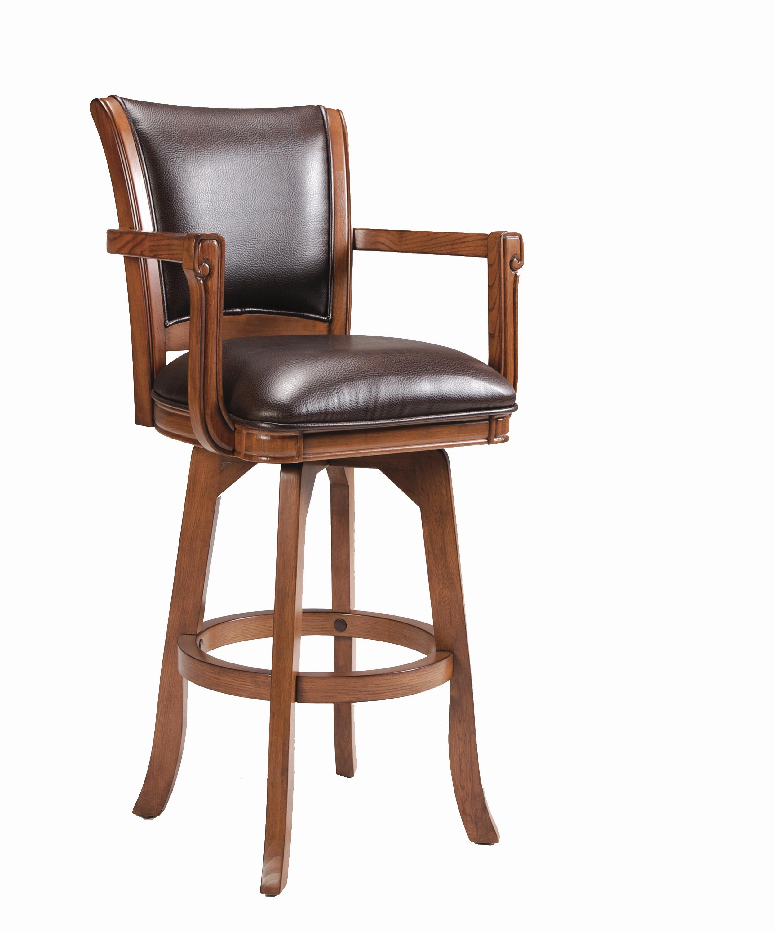 Hillsdale Game Stools & Chairs Park View Swivel Bar Stool - Item Number: 4186-830