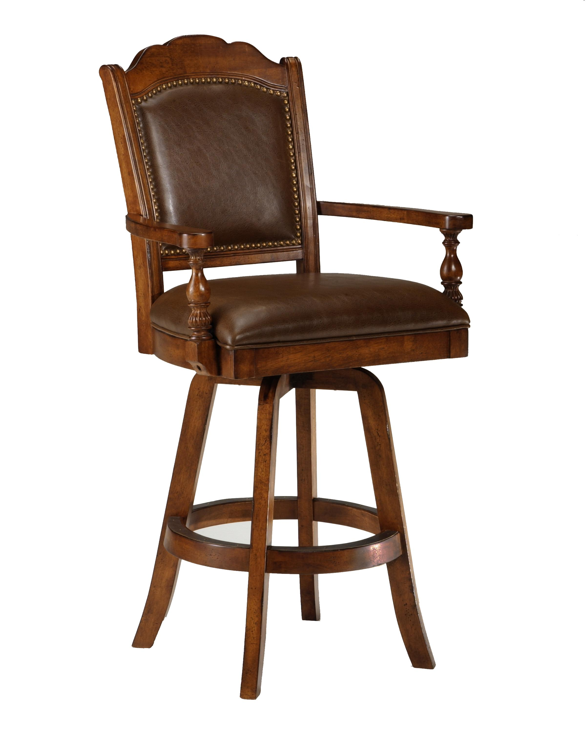 Hillsdale Game Stools & Chairs Naussa Swivel Leather Game Bar Stool - Item Number: 6060-830