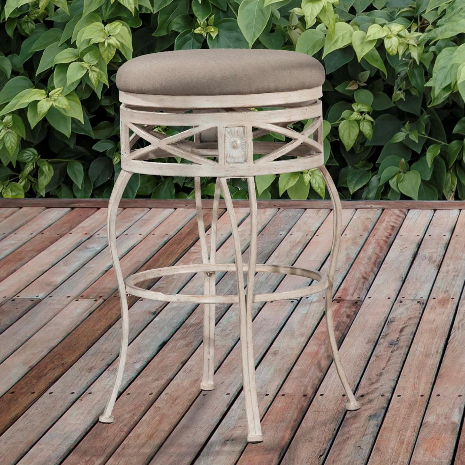 Indoor Outdoor Stools Backless Swivel Counter Stool