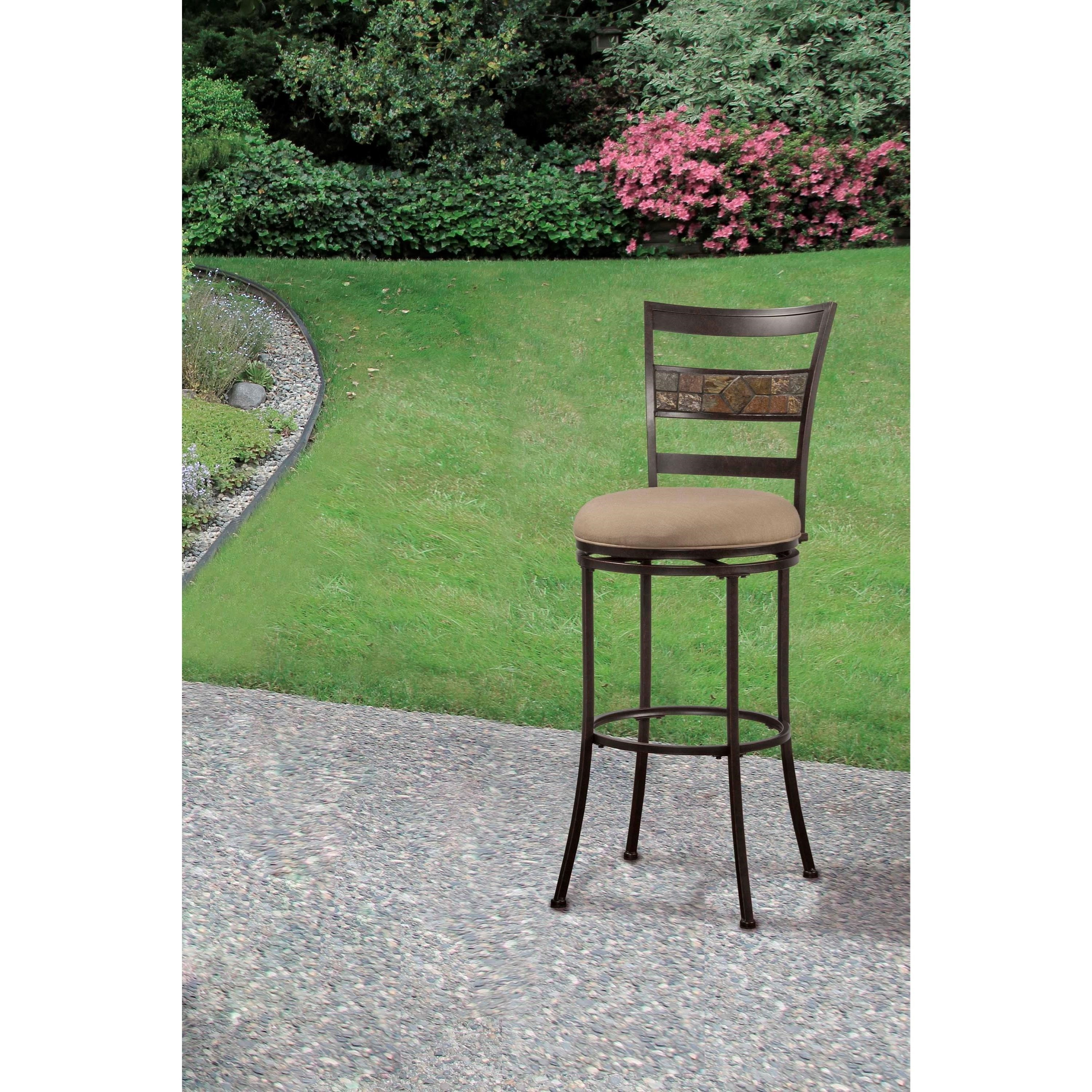Indoor Outdoor Stools Swivel Counter Stool With Ladderback