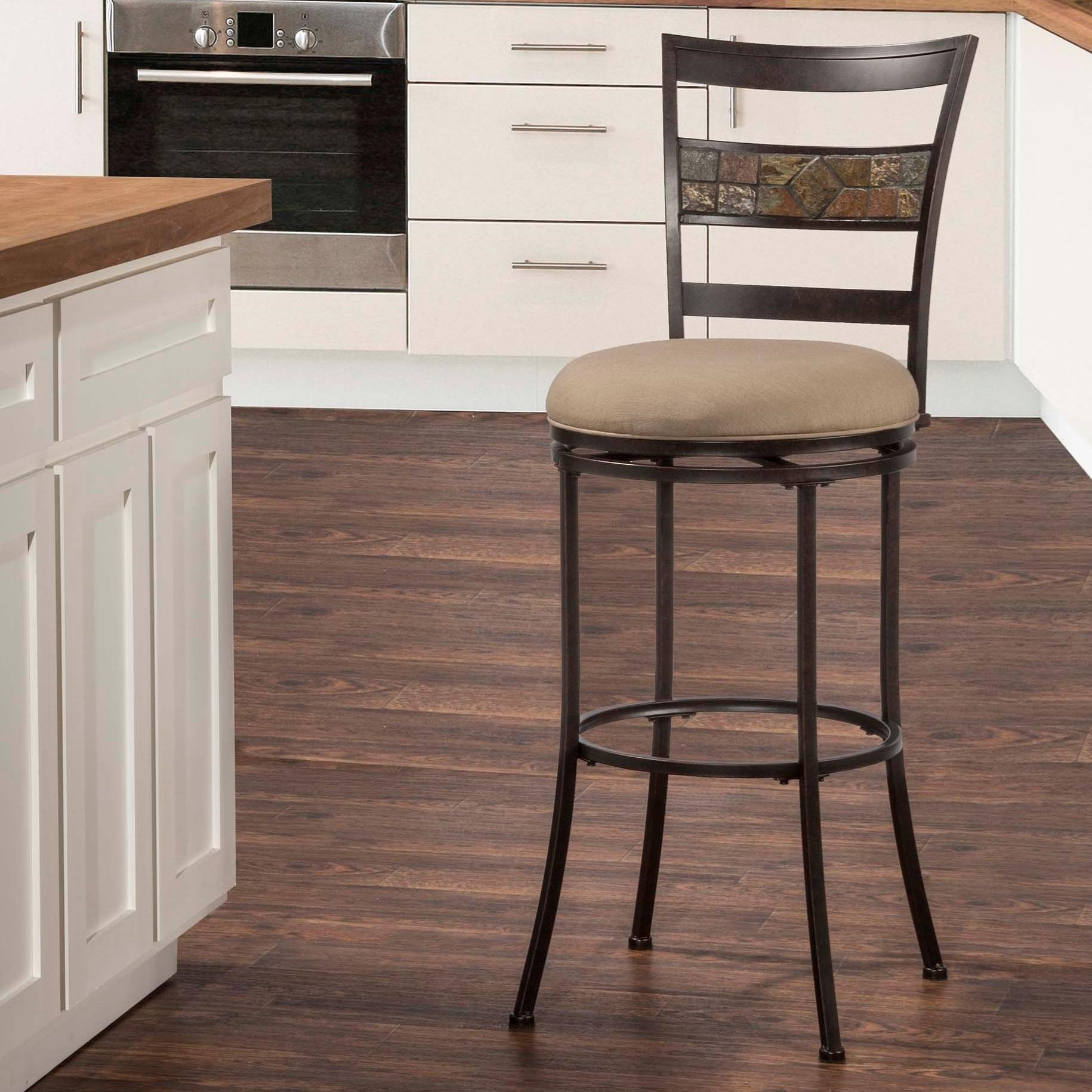 Hillsdale Indoor Outdoor Stools Swivel Bar Stool With